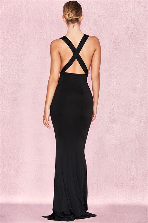 clothing max dresses miacova black silky jersey