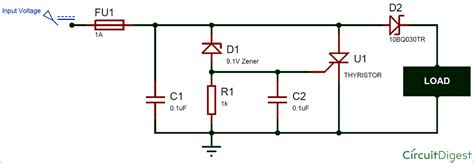 Crowbar Circuit Diagram Design Working
