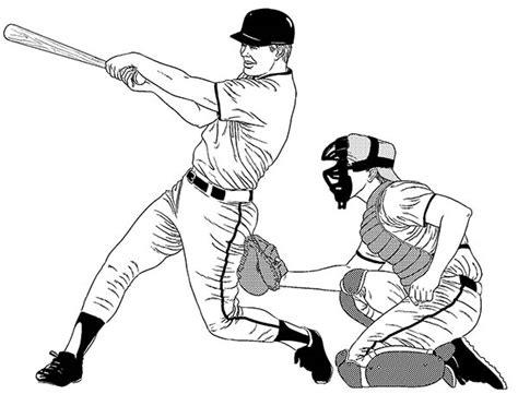 baseball player hitting  homerun coloring page