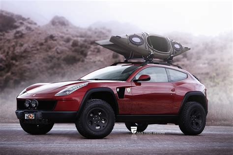 lifted ferrari ferrari ff with offroad equipment would make for the
