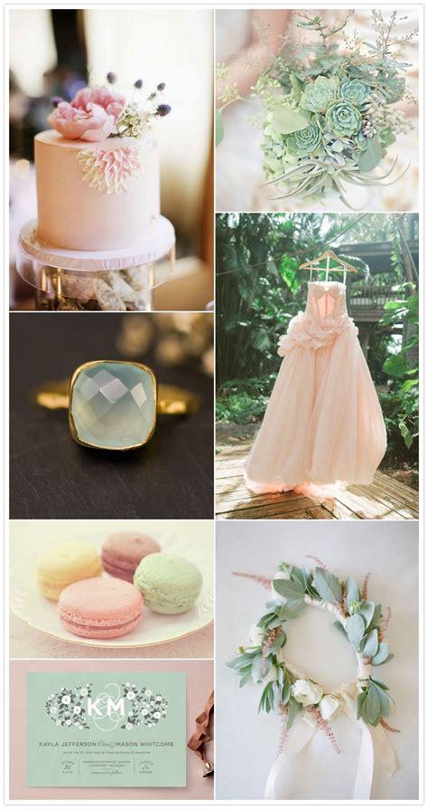 Blush Pink And Mint Green Wedding Inspiration Wedding
