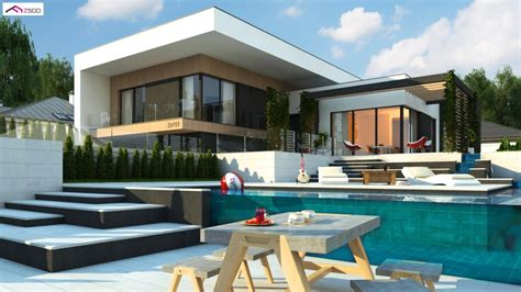 Moderne Häuser Unter 250 000 by готови проекти на къщи Z500 Bg