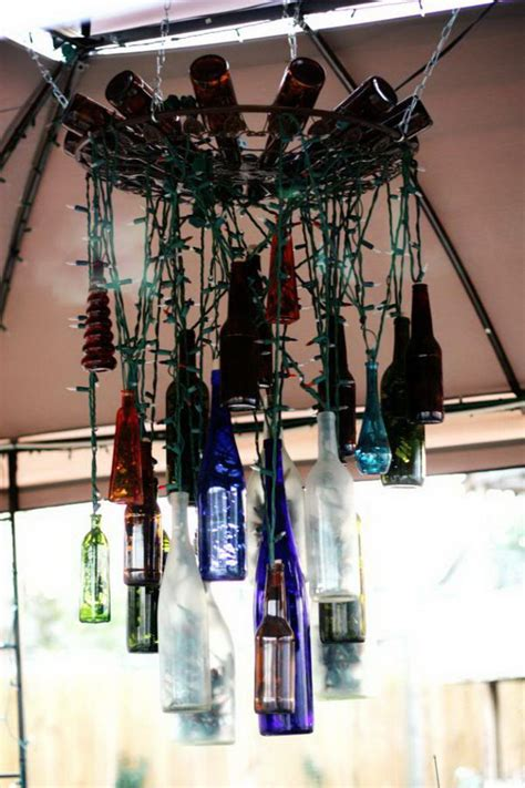 creative wine bottle chandelier ideas hative