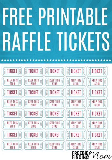 printable raffle  raffle  ticket