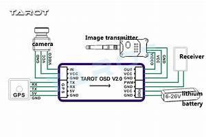 Tarot Tl300l2 Mini Osd Image Video Overlay Overlap Gps System V2 0 Gps Glonass M8n