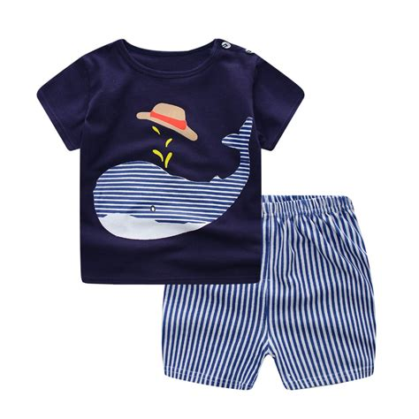 Infant Clothes by 2018 Summer Baby Boy Clothes 2pcs Set