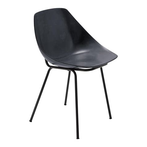 chaise gris anthracite chaise gris anthracite guariche coquillage maisons du monde