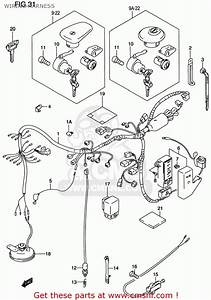 Suzuki Vs800gl Intruder 1999  X  Usa  E03  Wiring Harness