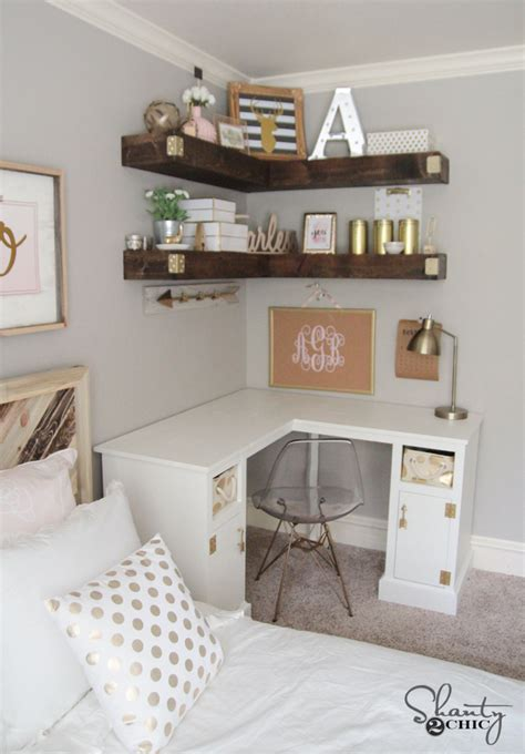 Building Bedroom Shelves by Diy Floating Corner Shelves Shanty 2 Chic