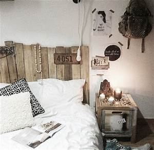 inexpensive pallet headboards for your bed pallet With idee deco tete de lit
