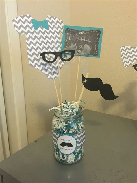 man themed baby shower centerpieces mustache baby