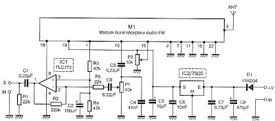 Wireless Receiver Microphone Circuit Electronic