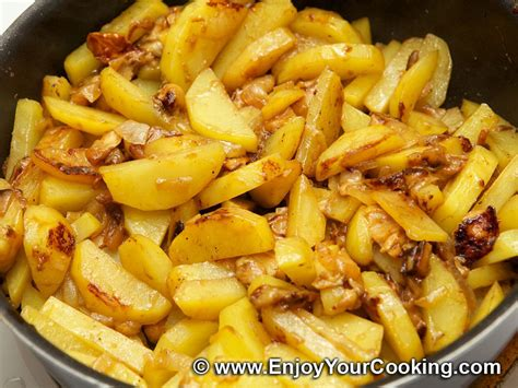 fried potatoes fried potato with mushrooms recipe my homemade food recipes tips enjoyyourcooking