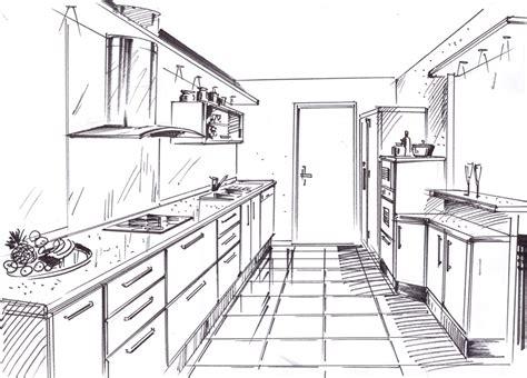 dessiner en perspective une cuisine dessiner une chambre en perspective 7 armoire de