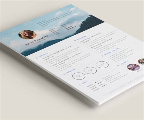 Graphic Design Resume Template Ai by Free Minimalistic Resume Cv Illustrator On Behance