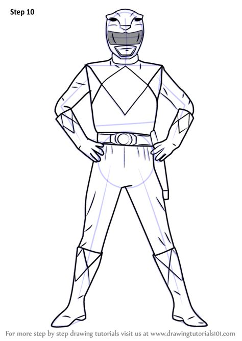 learn   draw yellow ranger  power rangers power rangers step  step drawing tutorials