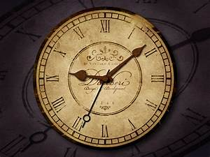 Design, A, Vintage, Clock, With, Rusty, Mechanics, In, Photoshop