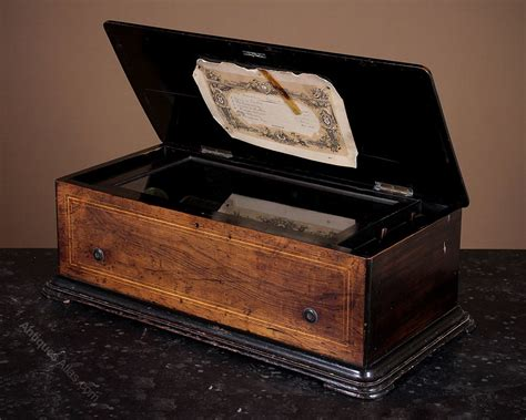 Specialist dealer and restorer of antique musical boxes: Antiques Atlas - Late 19th.c. Cylinder Music Box With Six Airs C.1880