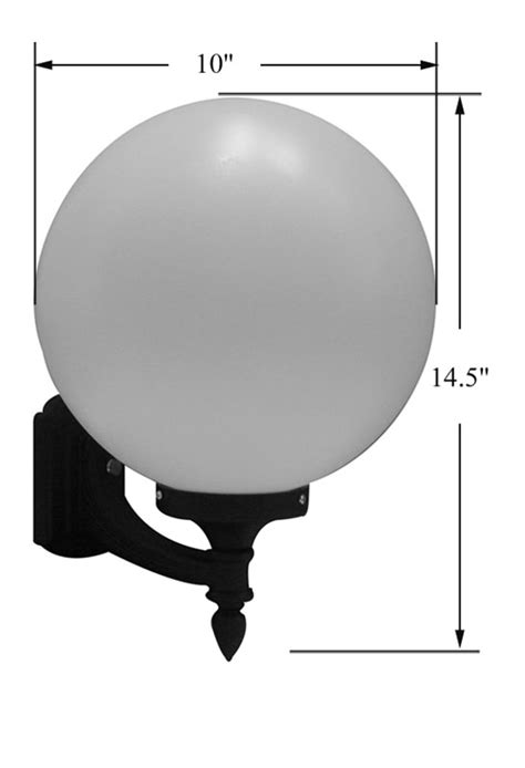 special lite lighting white acrylic sphere wall mount light 10 inch light part