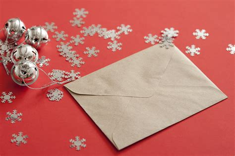 image  christmas card  table  snow flakes