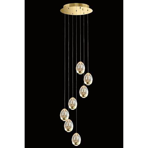 led glass pendant lights illuminati terrene 7 light led dimmable spiral ceiling
