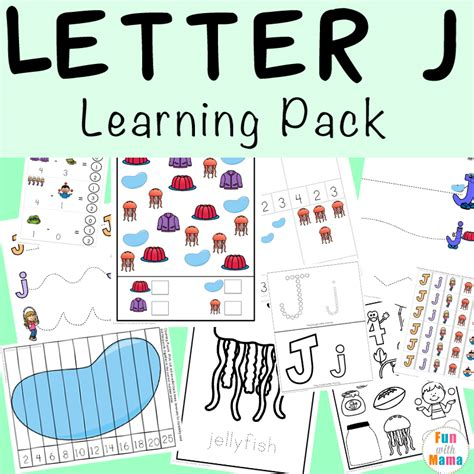 letter j worksheets activities with 902 | Letter J Learning Pack In