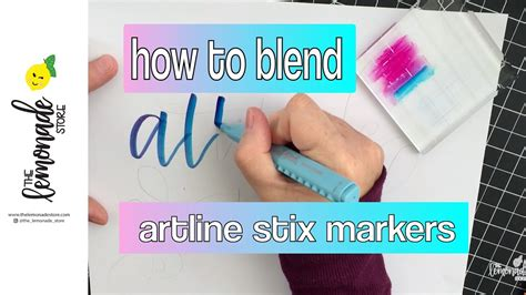 lettering  artline stix markers   blend colors