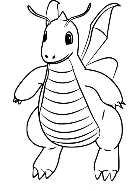 Coloriage Dracolosse Pokemon Go à Imprimer