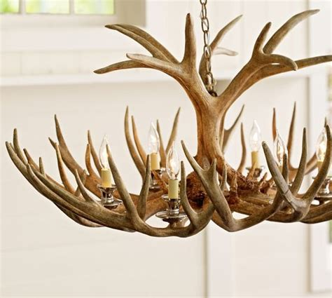 faux antler chandelier pottery barn home ideas