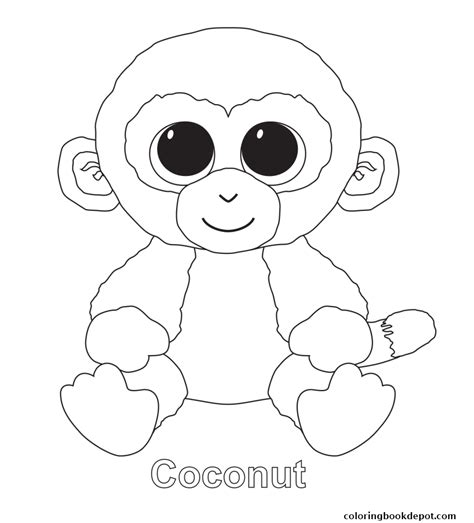 coloring boo coconut beanie boo coloring pages