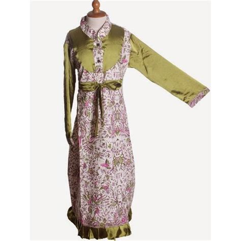 baju anak terusan lengan panjang gamis anak motif batik