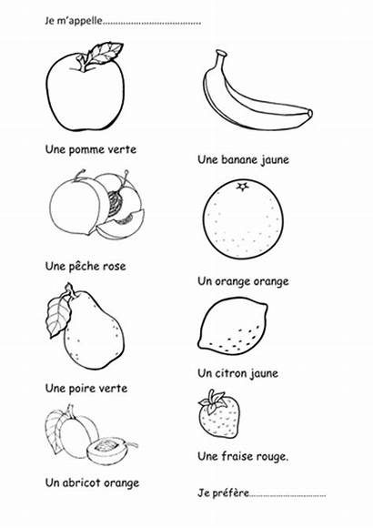 French Fruit Activity Colouring Coloring Teaching Tes