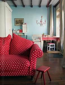 Einrichtung Shabby Chic : rotes sofa 80 fantastische modelle ~ Sanjose-hotels-ca.com Haus und Dekorationen
