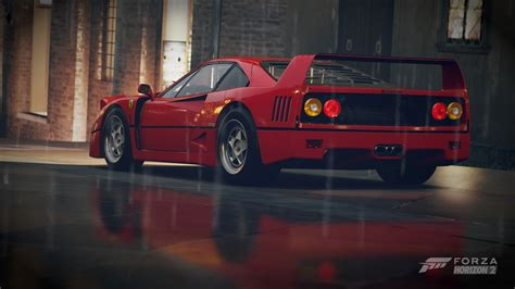 Ferrari, Car, Forza Horizon 2, Ferrari F40, F40, Red Cars