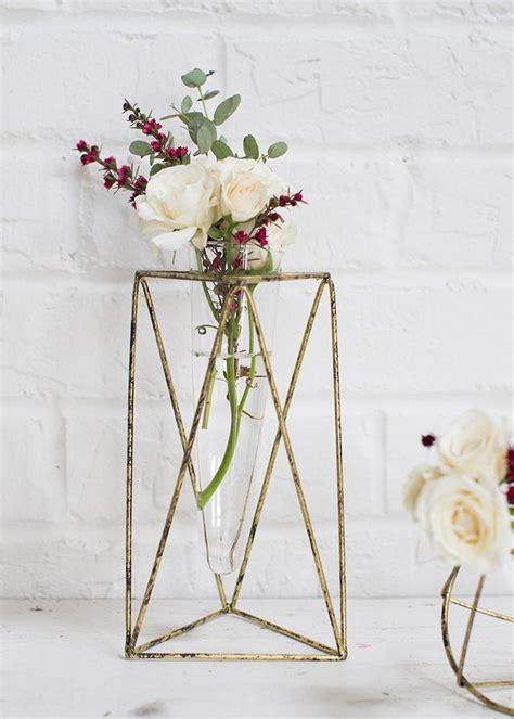 metal geometric flower vase modern vases afloralcom