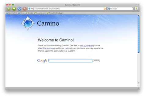 camino browser 5 cool web browsers for surfing corpocrat magazine