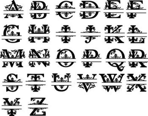 fancy monogram letter  family   sign
