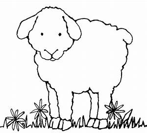 Black And White Sheep Clipart