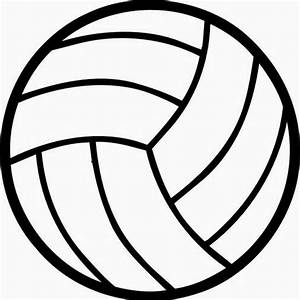 Best 15 Black And White Volleyball Ball Clipart Image