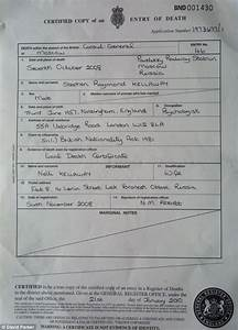 Fake Death Certificate Stephen Kellaway Who Faked Own Death In 43k Swindle To