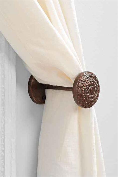 4040 locust engraved doorknob curtain tie back