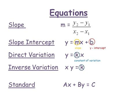 Slope Equation Formula by Slope And Linear Equations Ppt Video Online Download