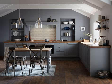 gray wood kitchen cabinets the fairford slate grey kitchen range from howdens is part