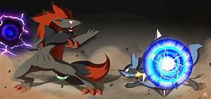Lucario VS Zoroark by Lanmana on DeviantArt