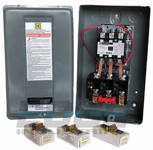 Square D Electric Motor Starter Control 10hp 40a 3ph 208