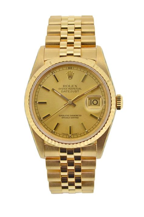 rolex oyster datejust 18k gold automatic 16238 watchobsession