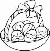 Easter Coloring Pages Egg Basket Drawing Bunny Printable Archive Dinosaur Clipart Colorful Kindergarten Designs Preschool Popular April sketch template
