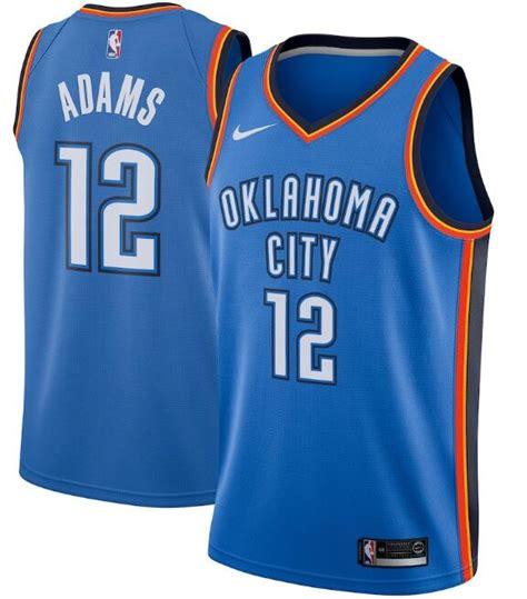 Men's Oklahoma City Thunder Blue #12 Steven Adams Icon ...