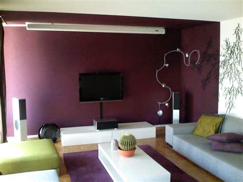 chambre gris et aubergine salon peinture gris galet