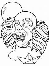 Pennywise Coloring Pages Clown Deviantart Trending Days Last sketch template